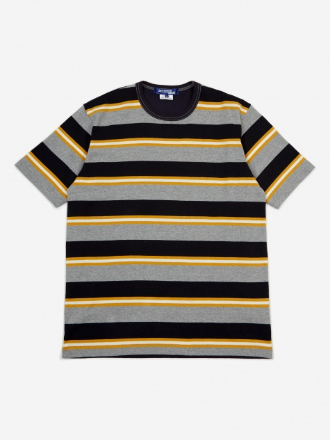 Junya Wantanabe MAN Striped T-Shirt - Grey/Navy/Yel