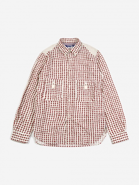 Flower Print Shirt - White/Red