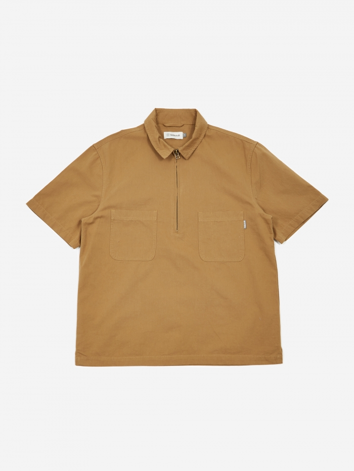 3rd Zip Shirt   Khaki by Satta