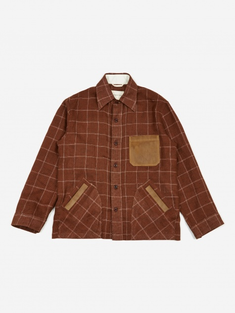 Yussef Shirt Jacket - Orange Check