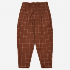Nicholas Daley Two Pleat Trouser - Orange Check