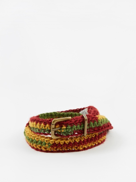 Jute Chrochete Belt - Red/Yellow/Green