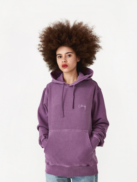 Stock Logo Hooded Sweatshirt - Purple