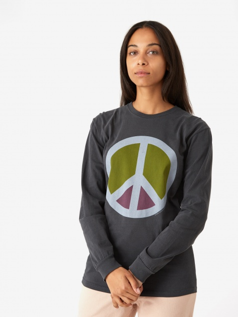 Peace Pig. Dyed Longsleeve T-Shirt - Black
