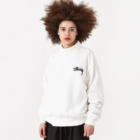 Weller Turtleneck Fleece Crew - Off White