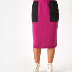 Stussy Simone Contrast Pocket Skirt - Berry