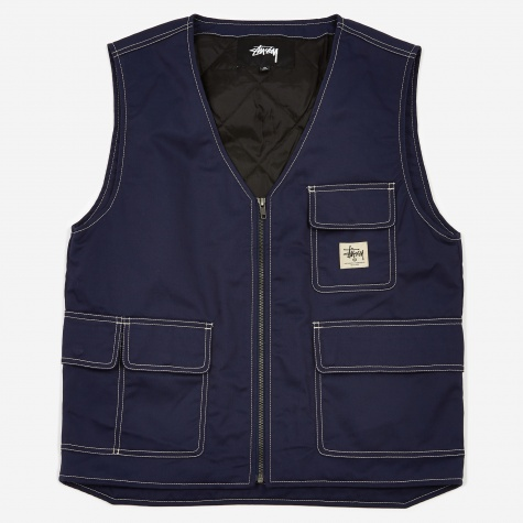 Poly Cotton Work Vest - Navy