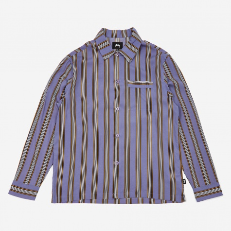 Cove Striped Longlseeve Shirt - Lavender