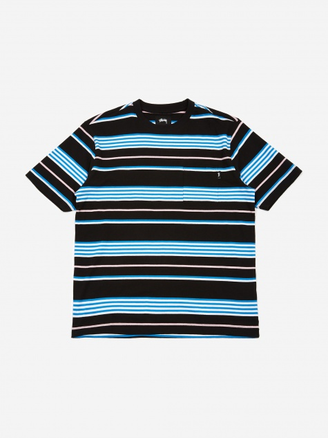 Thomas Stripe Crewneck Sweatshirt - Black