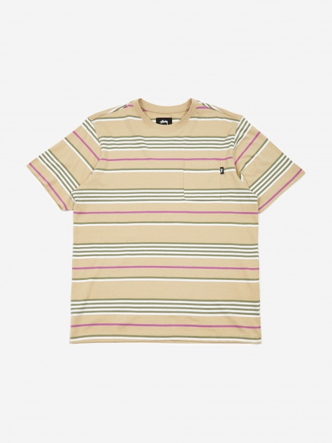 Thomas Stripe Crewneck Sweatshirt - Khaki