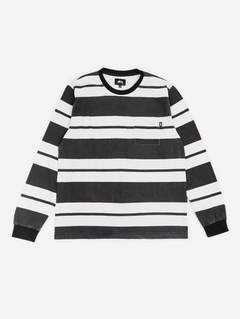 Franklin Striped Longsleeve T-Shirt - Black