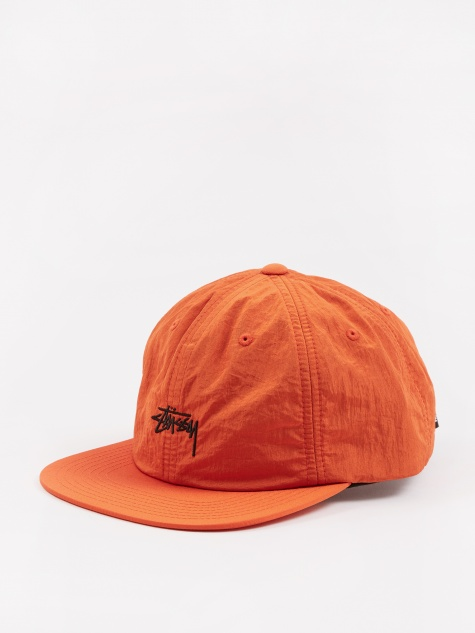 Stock Nylon Strapback Cap - Orange