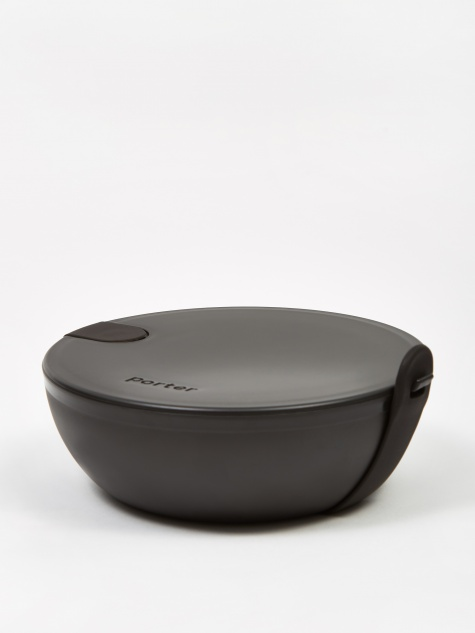 Porter Plastic Portable Lunchbox Bowl - Black