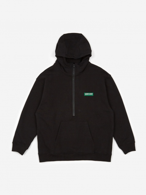 Half Zip Sweatshirt - Washed Black
