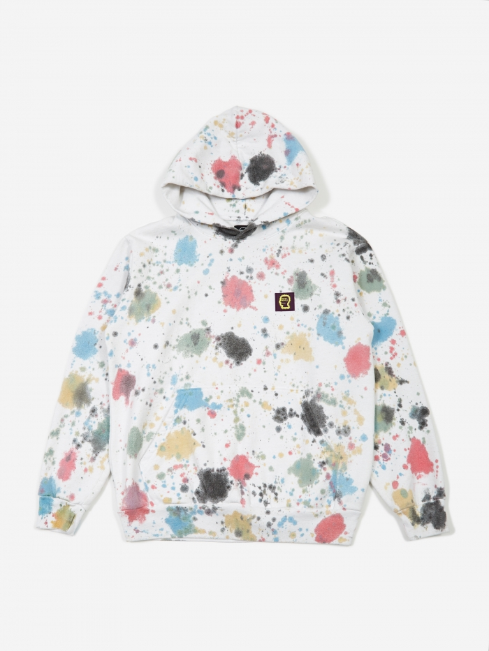 Brain Dead Splatter Dye Hooded Sweatshirt - Splatter (Image 1)