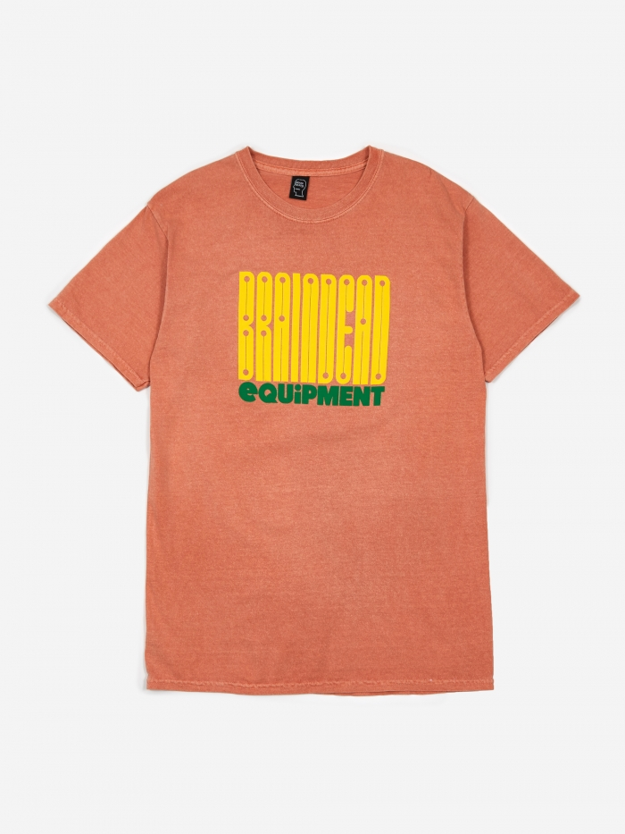 Brain Dead Equipment T-Shirt - Terracotta (Image 1)