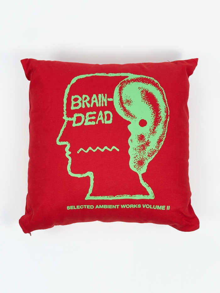 Brain Dead Ambient Pillow - Red (Image 1)