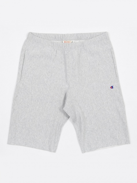 Reverse Weave Track Shorts - Grey