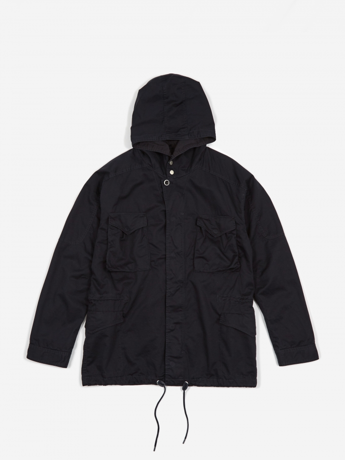Nonnative Twill Hooded Hunter Coat - Navy (Image 1)