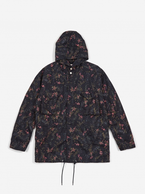 Liberty Print Hooded Hunter Coat - Navy