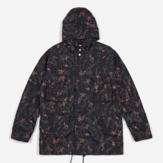 Nonnative Liberty Print Hooded Hunter Coat - Navy