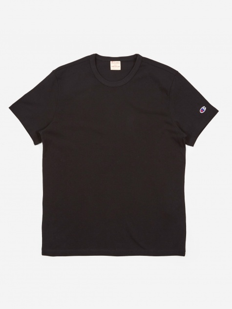 Reverse Weave Crew Neck T-Shirt - Black