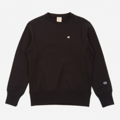 Champion Reverse Weave Crew Neck Sweatshirt - Black