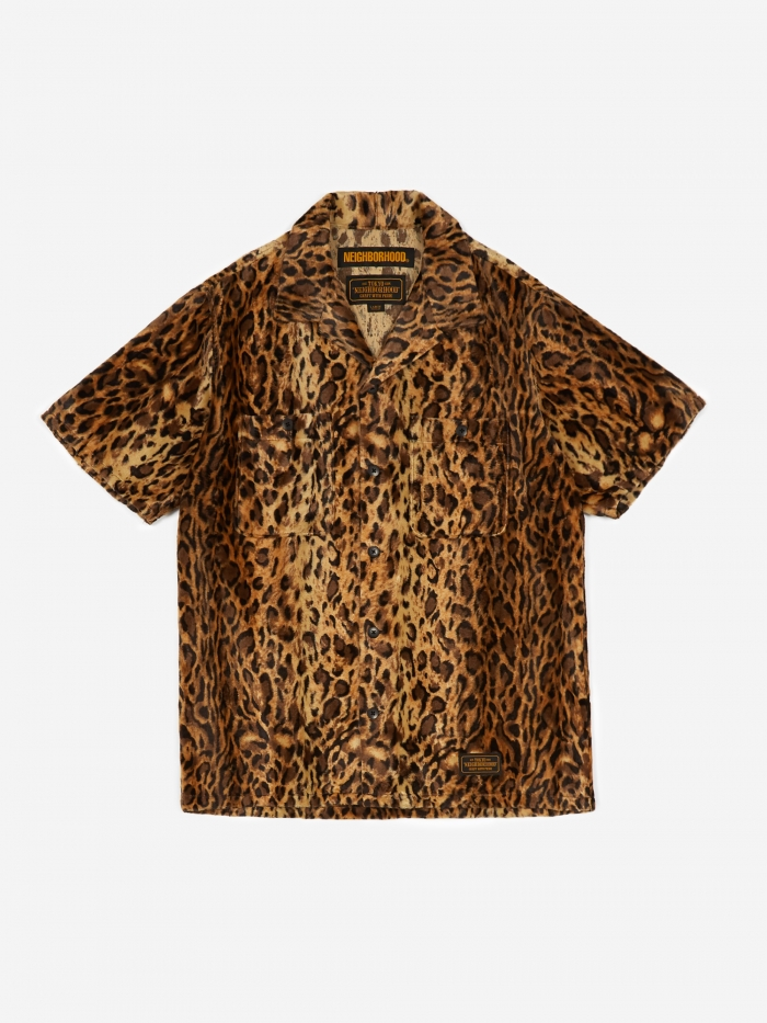 Neighborhood Short Sleeve Fur/ R-Shirt - Leopard (Image 1)