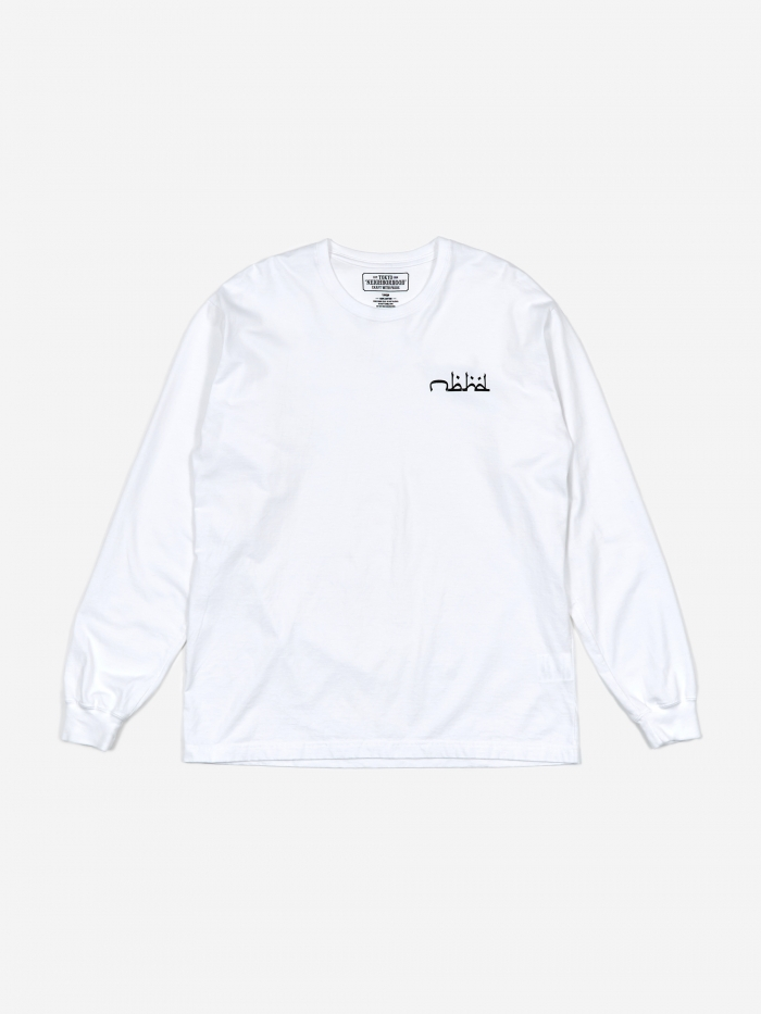 Neighborhood Longsleeve NBHD ABJAD / C-Tee T-Shirt - White (Image 1)