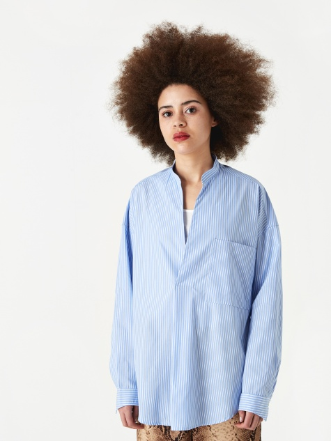 Caroline Shirt - Blue Stripe