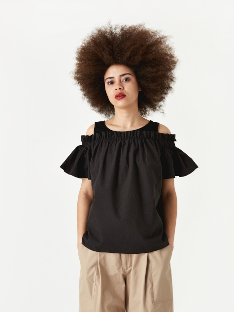 Angel Sleeve Top - Black