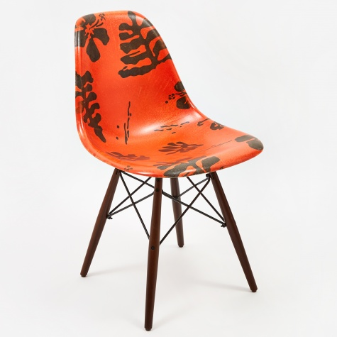 Vault x Modernica Shell Chair - Leather Brown/Hawaii
