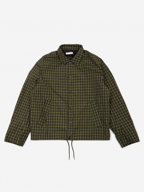 Spencer Shell Coach Jacket - Green Check