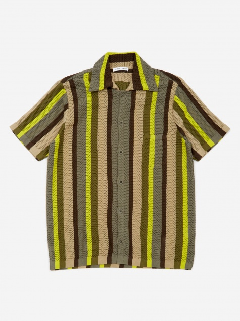 Wes Knitted Short Sleeve Shirt - Multistripe