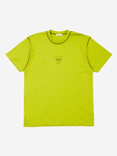 Ridley Contrast Print T-Shirt - Lime Yellow/Black