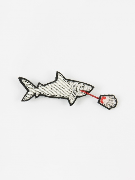 Shark Embroidered Pin