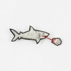 Macon & Lesquoy Shark Embroidered Pin