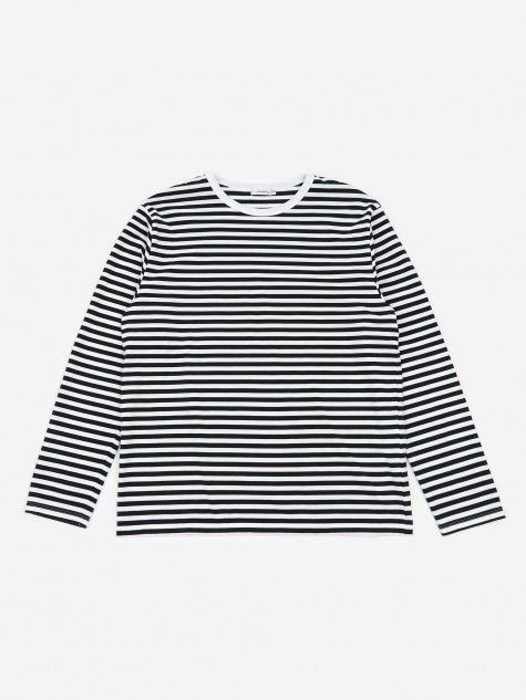 COOLMAX Stripe Jersey L/S T-Shirt - Black/White