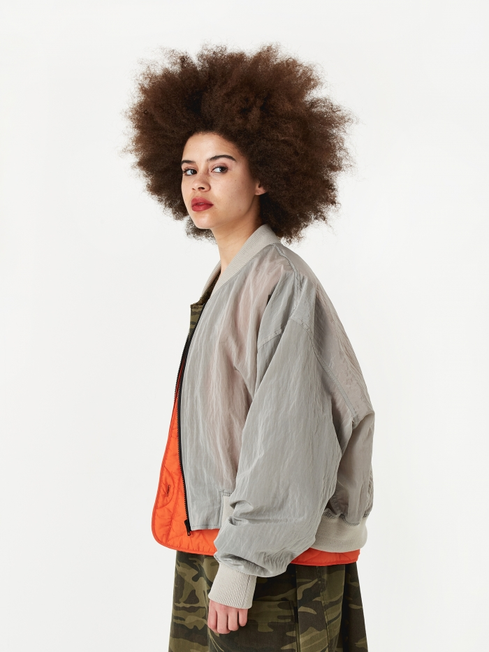 Stand Alone Double Layer Liner Jacket - Grey (Image 1)