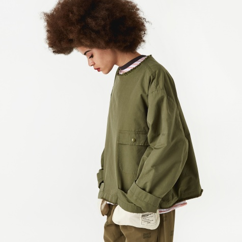 Shirt Tail Layered Top - Khaki