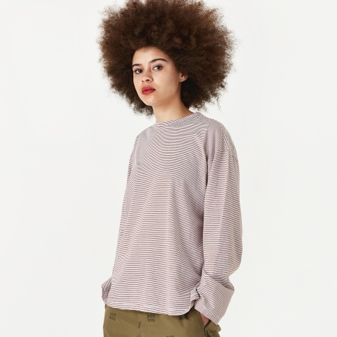 Striped Longsleeve T-Shirt - Brown Strip