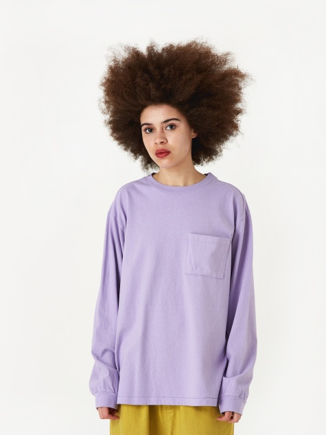 Longsleeve Pocket T-Shirt - Light Purple