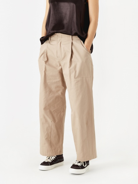 Wide Leg Trouser - Beige