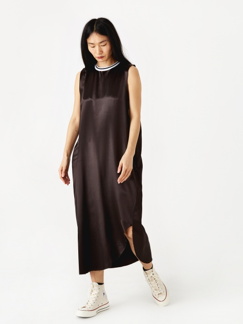 Raw Edge Dress - Brown