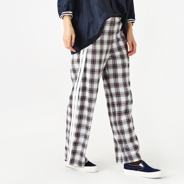 Stand Alone Check Trouser - Red Check (Image 1)