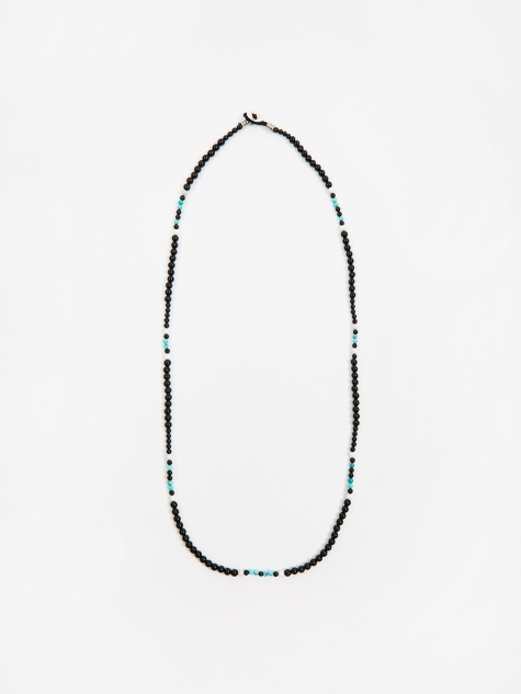 Multi Beads Necklace - Onyx/Turquoise/Howlite