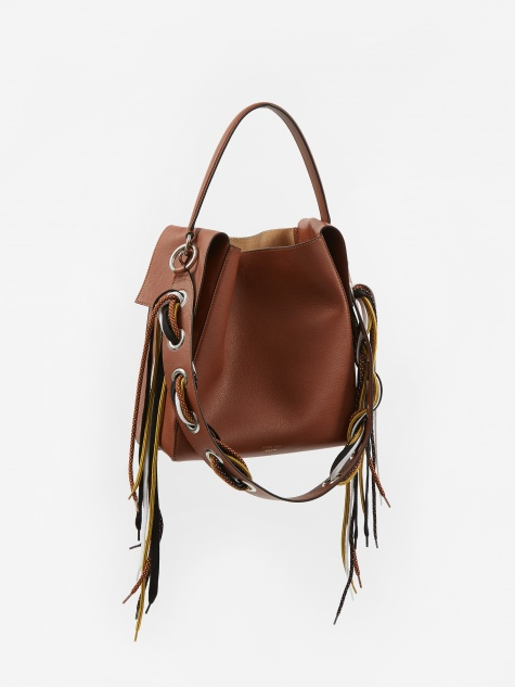 Nellie Bag With Strap Detail - Brown