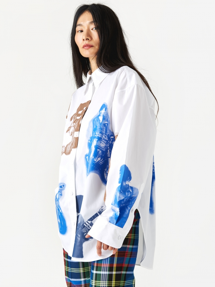 Ports 1961 Printed Shirt - Optic White (Image 1)
