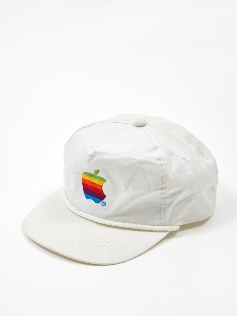 Apple Rainbow Logo Cap - White