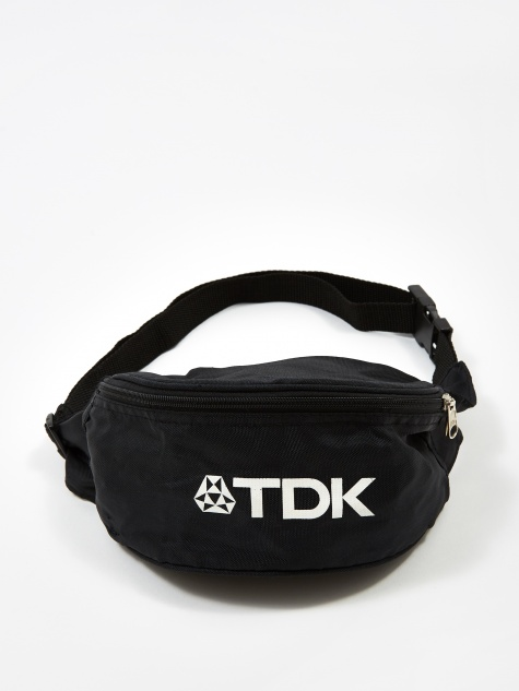 TDK Graphic Logo Crossbody Bag - Black